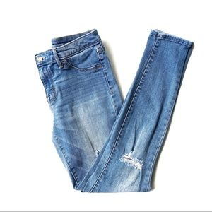 Mossimo Size 2/26 Distressed High Rise Jeggings